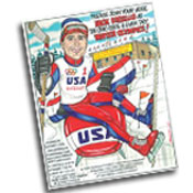 Olympic theme caricature invitations