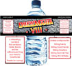 WWE Wrestling theme party water bottle label favors
