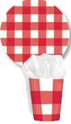 gingham bbq paper goods