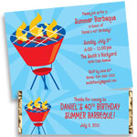 Summer barbecue theme invitation