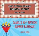 personalized summer party theme banners