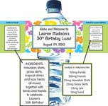 summer theme water bottle labels