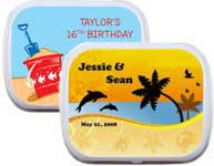 custom summer theme mint and candy tins