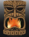 Flaming Tiki decoration