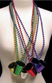 mardi gras shot glass beads