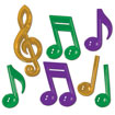 Mardi Gras Music Note Decorations