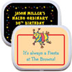 fiesta theme party favors. custom candy tins for fiesta theme party