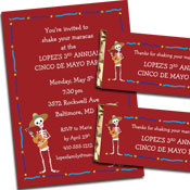 Cinco de mayo party invitations and favors