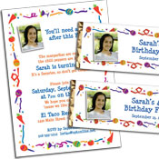 Fiesta party theme invitations and favors