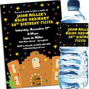 Fiesta bash custom invitations and party favors