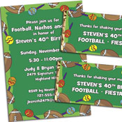 Football fiesta party invitations