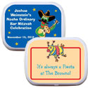 fiesta party favor. custom mint and candy tins for a fiesta theme party