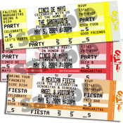 Fiesta ticket invitations