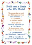 personalized fiesta party invitation