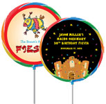 Custom lollipop fiesta theme favors. Fiesta personalized lollipops.