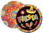 fiesta party paper goods, tableware for fiesta party