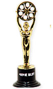 hollywood theme award statue favor or decoration