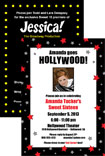 personalized hollywood theme party invitation