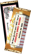 personalized film party candy bar wrapper