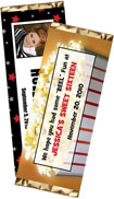 personalized hollywood theme candy bar wrapper