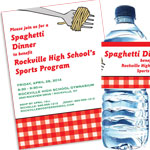 Spaghetti theme invitations
