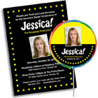 Personalized hollywood party invitations, decorations and party supplies