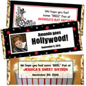Custom Hollywood Theme Candy bars