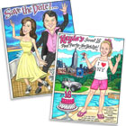 custom caricatures for Hollywood theme parties