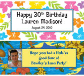 custom luau party banners
