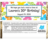 luau theme candy bars and wrappers. custom fiesta theme party favors