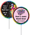 mardi gras theme party favor lollipops for a birthday party