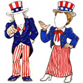 Patriotic party cutouts