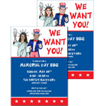 Patriotic Add a Face Invitations