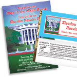 Patriotic elections night invitations and favors