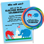Patriotic elections theme invitations and favors