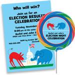 personalized election theme invitation