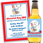 memorial day theme invitations and party favors