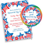 Patriotic stars invitations and favors