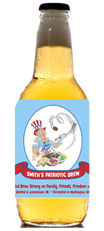 personalized patriotic beer bottle label
