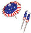 flag drink umbrella for a patriotic party