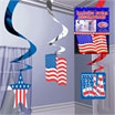 ceiling swirls, flag decorations