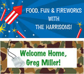 personalized 4th of July party banner