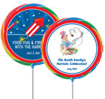 4th of July Patriotic lollipop favors