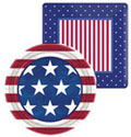 patriotic paper goods, plate, cups and napkins