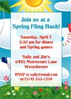 personalized spring fling invitation
