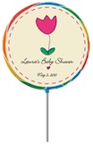 personalized spring lollipop