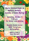 personalized garden party invitation