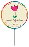 personalized garden flower lollipop