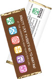 personalized mayan theme candy bar wrapper
