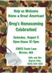 Personalized welcome home soldier invitation